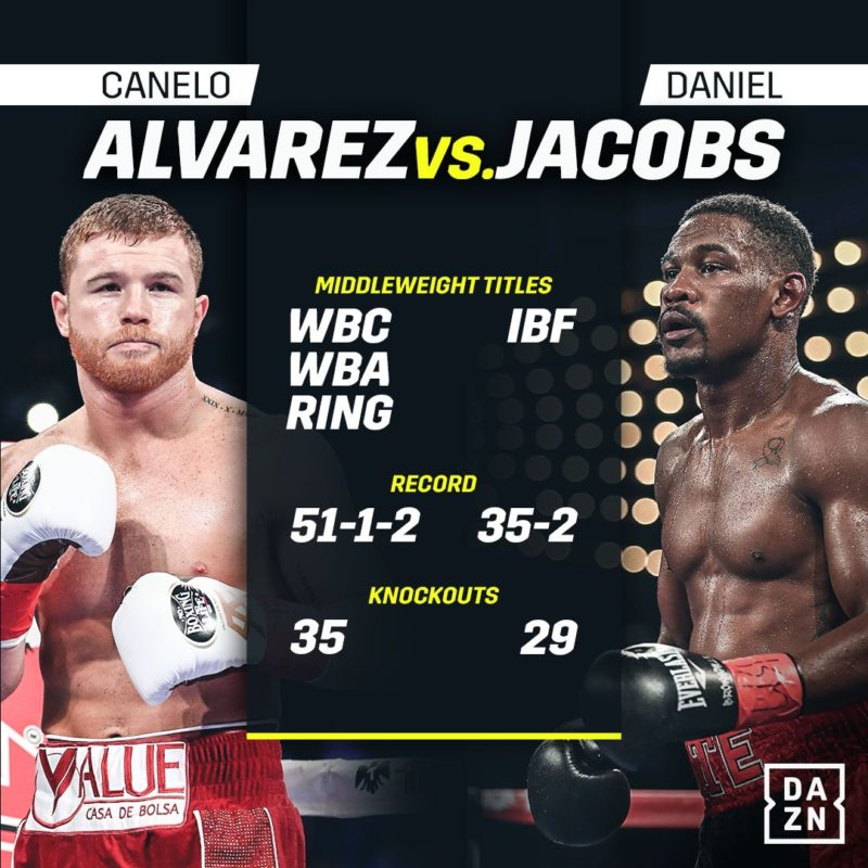 Fireworks at the Canelo versus Jacobs weigh-in!