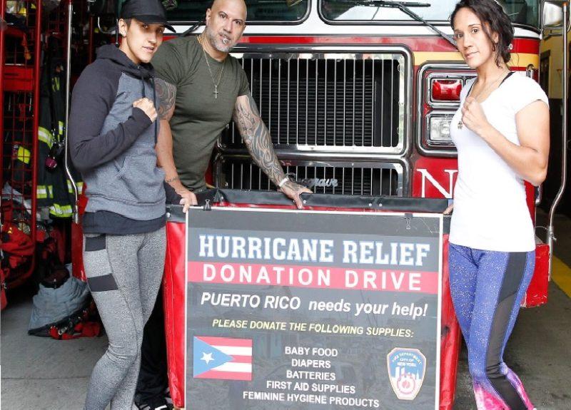 WORLD CHAMPIONS AMANDA AND CINDY SERRANO JOIN DRIVE TO HELP PUERTO RICO