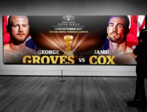 WBA Super World Super Middleweight champion George Groves (26-3, 19 KOs) and Jamie Cox (24-0,13 KOs) went head-to-head