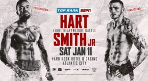 HART & SMITH JR. SET TO CLASH ON JAN 11 AT HARD ROCK ATLANTIC CITY ON ESPN