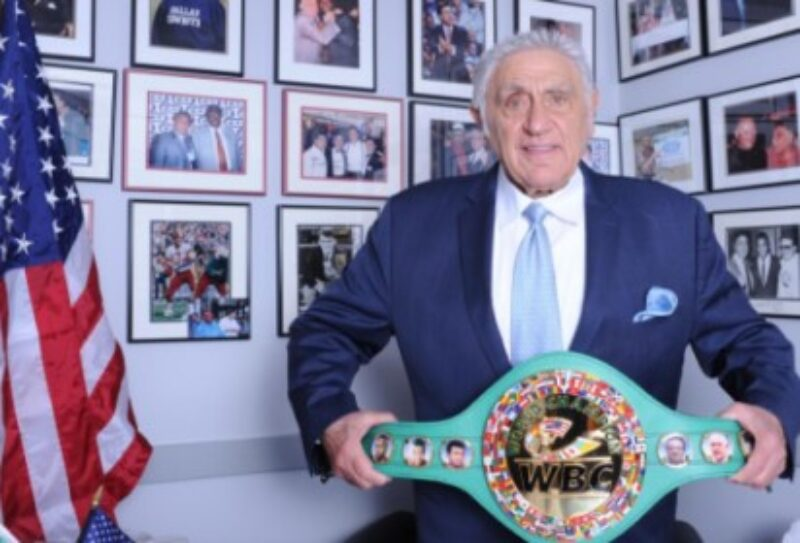 Veteran promoter Burchfield receives WBC's honorary green and gold belt