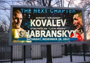 Kovalev-Shabranskyy Now for WBO Light Heavyweight World Title