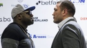 Pulev and Johnson come face-to-face ahead of WBA title showdown