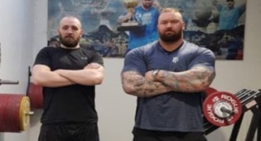 "ICELANDIC HEAVYWEIGHT KOLBEINN KRISTINSSON FEELING BENEFITS OF STRENGTH TRAINING WITH THE WORLD'S STRONGEST MAN, HAFBOR ""THOR"" BJORNSSON"