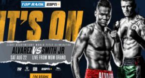 Eleider Alvarez & Joe Smith Jr. Face Off in Title Eliminator on 8/22 LIVE on ESPN