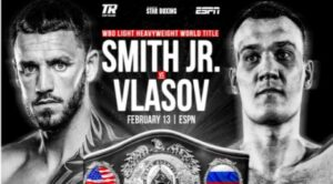JOE SMITH JR TO FACE MAXIM VLASOV FEB 13 FOR WBO WORLD TITLE ON ESPN