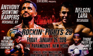 FIGHT-NIGHT LIVE TO STREAM STAR BOXING'S ROCKIN FIGHTS THIS FRIDAY 1/2