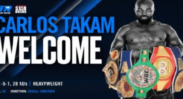 STAR BOXING & TOP RANK TEAM TO PROMOTE HEAVYWEIGHT CONTENDER, CARLOS TAKAM