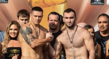 Usyk and Gassiev hit the scales in Moscow