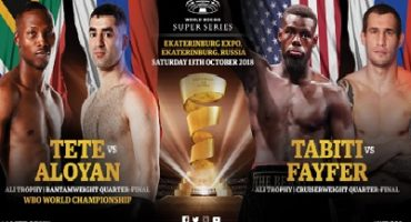 Andrew Tabiti & Ruslan Fayfer and Zolani Tete & Mikhail Aloyan all make weight ahead of their Ali Trophy Quarter-Finals